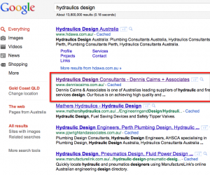 Google Page One Hydraulics Design